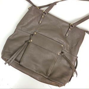 Kooba Taupe Gray Leather Shoulder Bag